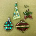 2188 - Fused Glass Christmas Ornaments